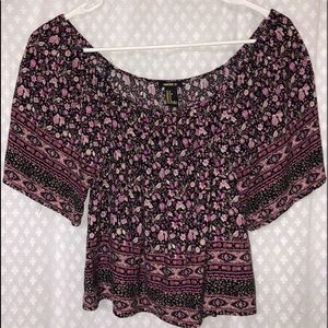 Tops - Forever 21 Floral crop top